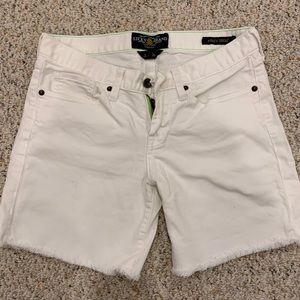 Lucky brand white jean shorts